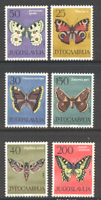 Yugoslavia 1964 Butterflies/Insects/Nature/Butterfly/Moths 6v set (s2687)