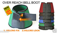 GEE TAC HORSE NEOPRENE OVER REACH BRUSHING BOOT THICK COMPETITION DOUBLE VELCRO