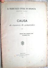 1902 CURIOSA CAUSA DI PATERNITA' DI UNO SCARIOLANTE DI PIANGIPANE FIUME LAMONE