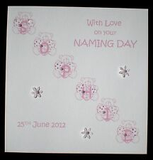 HANDMADE PERSONALISED NAMING DAY DEDICATION CHRISTENING CARD