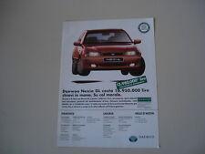 advertising Pubblicità 1997 DAEWOO NEXIA GL