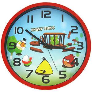 30 cm Angry Birds Children Wall Clock Kids Cartoon Child Junior Silent Quartz