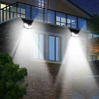 100LED Solar Power Wall Light Motion Sensor Waterproof T4E4 Lamp Garden Out E8K0
