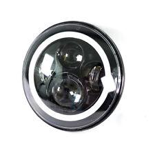 LED Scheinwerfer 7 Zoll mit Standlichtring z.B. für Jeep und Harley