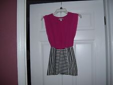 Girls dress by Speechless, size 7, fuscia with black and white bottom, cute.