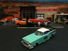 1:64 Hot Wheels LE 1957 57 Chevy Funny Car Turquoise & Black - White Top Legends