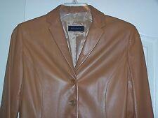 Designer ITALIAN Leather Jacket  PIAZZA SEMPIONE- Brown Sz 8 (MEDIUM)  Nice!