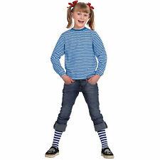 NEU Kinder-Ringelshirt langarm blau-weiß, Gr. 128