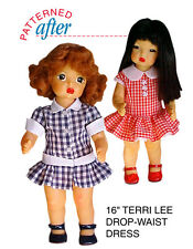 "Drop Waist Dresses Clothing Pattern For 16"" Terri Lee Doll"