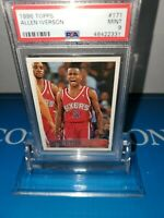 PSA 9 MINT~1996-97 Topps Allen Iverson HOF Rookie RC#171 76ERS SIXERS LEGEND🔥🏀