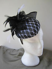 Fascinator / Headband /  Hat  Black / White Derby  Races  / Special Occasion