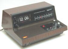 vintage Montgomery WARD AIRLINE  Alarm FLIP Clock / AM, FM Radio  Perfect