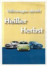 VW Prospekt 2002 9/02 Lupo Polo Bora New Beetle Passat brochure brosjyre Katalog