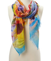 Girls Sunflower Printed Scarf Multicolor Shawl wrap Stole Floral Summer Scarfs