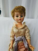 "VINTAGE 24"" HARD PLASTIC DOLL 1950,s  looks to be original outfit see pictures"