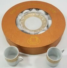 N) Golden Star Coffee Demitasse Espresso Cup 6 Piece Set Fine Porcelain German