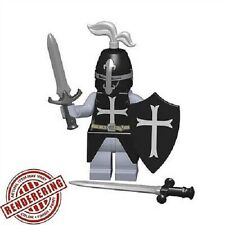 Brickforge Black Templar / Medieval Crusader Accessory Pack for Lego Minifigures