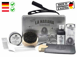 Bartpflege Set Tabak Vanille Bartstoppel© Germany Geschenkset mit Rasiermesser