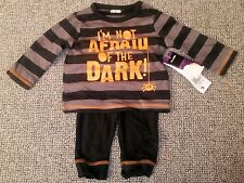 Baby boy Halloween pyjama outfit 0-3 #free post