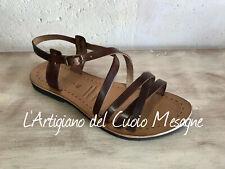 Sandali salentini artigianali da donna in cuoio e pelle 100% Made in Italy