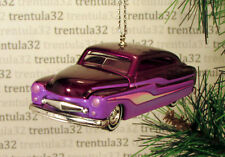 '49 MERC 1949 MERCURY SEDAN PURPLE LOWRIDER CHRISTMAS TREE ORNAMENT XMAS