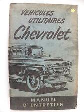 Manuel d'entretien véhicules utilitaires CHEVROLET