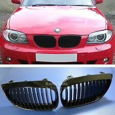 2004-2007 BMW E81 E87 1 Series KIDNEY FRONT GRILLE GRILL 130i 123d Gloss black