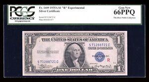 DBR 1935-A $1 Silver Gem Experimental (R) Fr. 1609 PCGS 66 PPQ Serial S71288721C