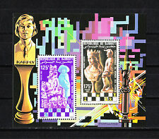 Djibouti  timbre  bloc spécial collectif    échecs   num: BF 551/52  **