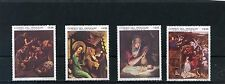 PARAGUAY 1969 Sc#1210-1213 CHRISTMAS PAINTINGS SET OF 4 STAMPS MNH