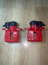 GENUINE AUDI A5 S5 Q5 B8  Rear LEFT+RIGHT TRW electric brake calipers  red 300mm