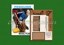Michel Plasse - Pittsburgh Penguins - Custom Hockey Card  - 1974-75
