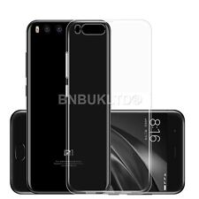 Clear Slim Gel Case and Glass Screen Protector for Xiaomi Mi 6