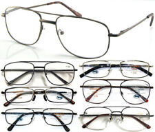 Double Bridge Metal Frame Reading Glasses/Super Classic Style/Large Frame Design