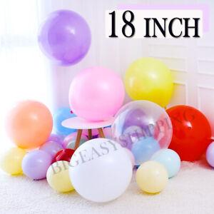10X 18 Inch Large Giant Oval Latex Big Balloons Wedding Party Balloons Decor UK