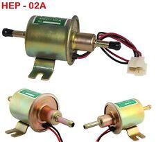 12V Heavy Duty Electric Fuel Pump Low Pressure Inline Petrol Diesel HEP-02A New
