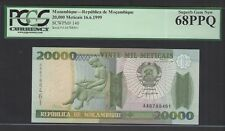 Mozambique 20000 Meticais 16-6-1999 P140 Uncirculated Graded 68