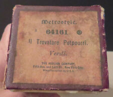 Antique Metrostyle Player Organ Roll Il Trovatore Potpouri by Verde