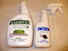 Scented Kirby Rug Shampoo 32 oz Allergen control and 12 Ounce Oxy Spot Remover.