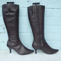 Next Leather Boots Size Uk 4 Eur 37 Sexy Womens Brown Boots Christmas