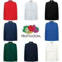 Fruit of the Loom Premium Long Sleeve Polo Shirt