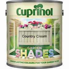 CUPRINOL GARDEN SHADES - COUNTRY CREAM - 1 LITRE - 125 ML TINS  Paint Sheds Wood