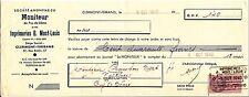 ORDRE DE PAIEMENT MONITEUR IMPRIMERIE CLERMONT POUR NESCHERS  TIMBRES FISCAUX
