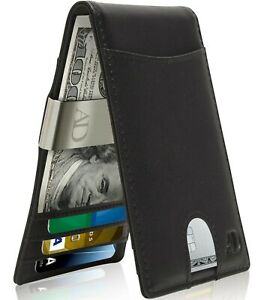 Slim Wallets For Men With Money Clip Bifold Wallet RFID Card Holder Mens Wallets