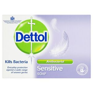 Dettol Sensitive Anti Bacterial Bar Soap Gentle Everyday Use 100kg Pack Of 6
