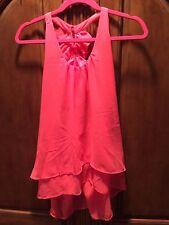 CHARMING CHARLIE WOMEN'S SEXY BACKLESS NEON BLOUSE L NEW