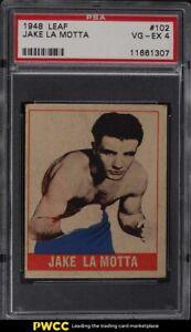 1948 Leaf Boxing Jake La Motta #102 PSA 4 VGEX