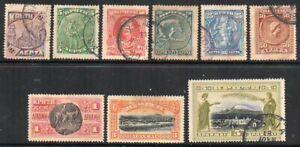 Crete: 1905 set (9) SG 21-29 used/unused