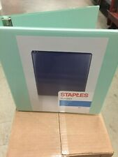 STAPLES STANDARD VIEW 1.5 INCH 3 RING BINDER MINT