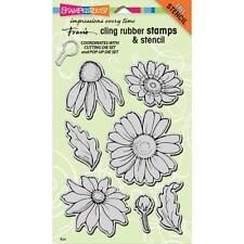 DAISY FLOWER MIX Set Unmounted Cling Rubber Stamp Set by Stampendous CRS5082 NEW